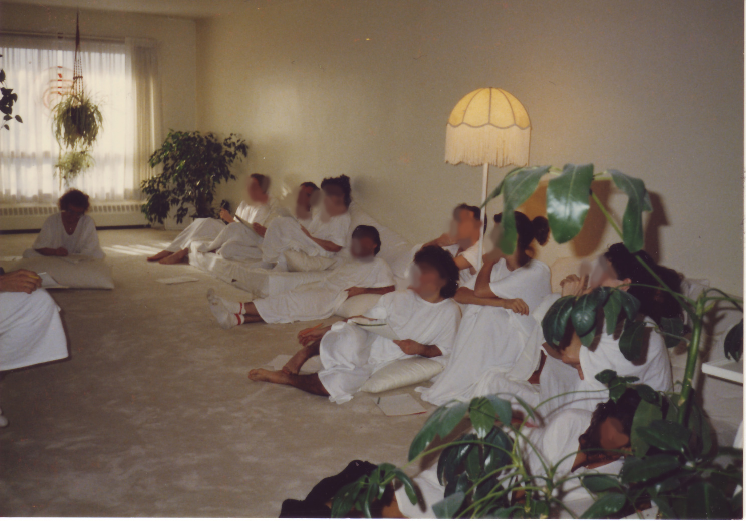 Jean-Denis Saint-Cyr's home Meditation room with Raelians and non-Raeliens in 1989