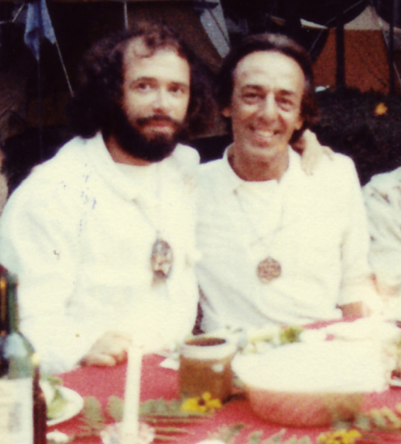 Claude Vorilhon Rael and Jean-Denis Saint-Cyr in 1985