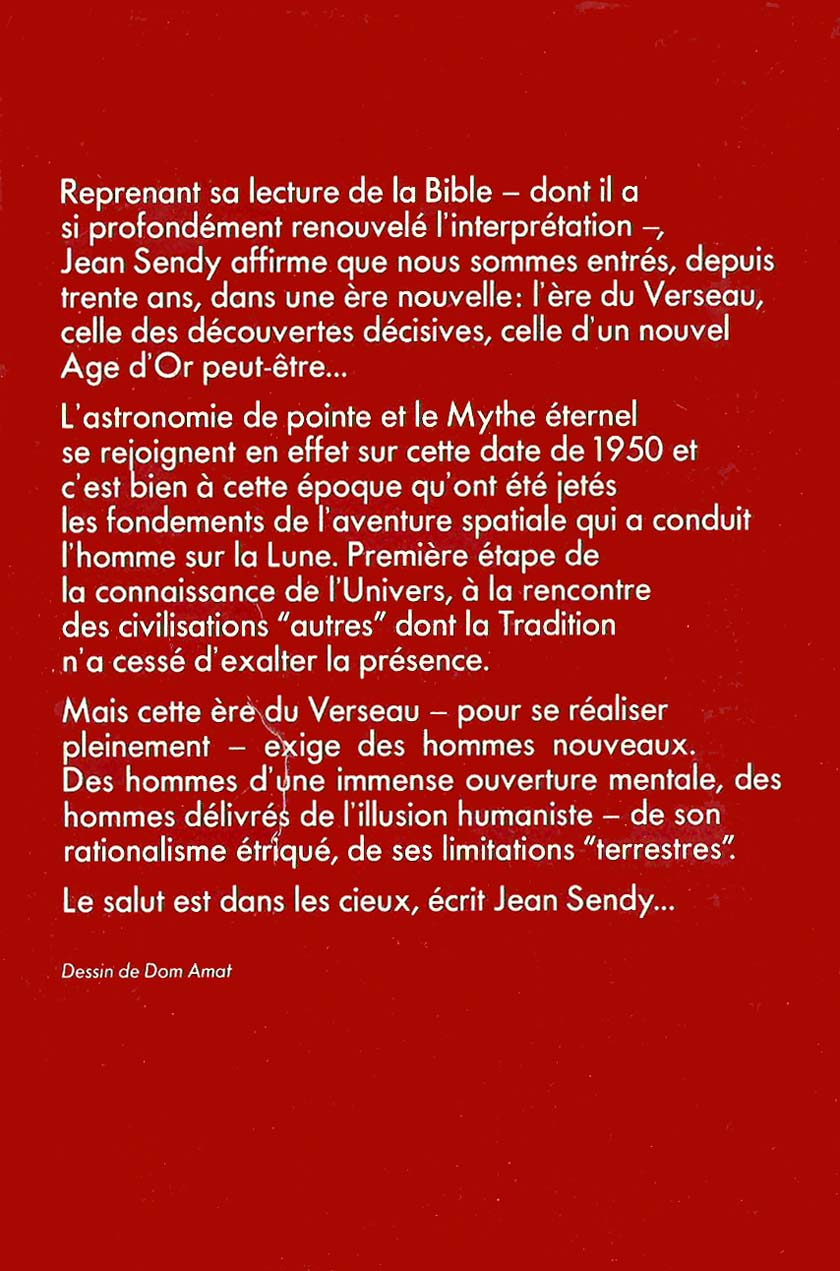 L'ere du Verseau (back) by Jean Sendy (1970)